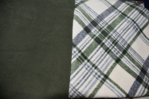 Hunter Green and Grey Plaid with Hunter green inside