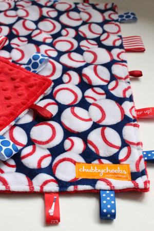 Baseball large tag blanket