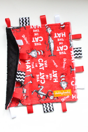 Cat in the Hat small tag blanket