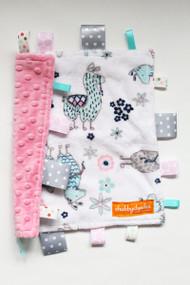 No Prob-Llama Pink 1 small tag blanket