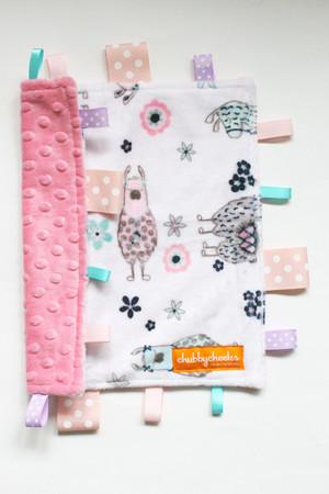 No Prob-Llama Pink 2 small tag blanket