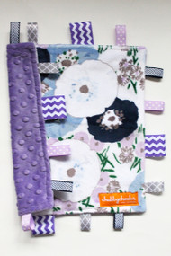 Purple Floral small tag blanket
