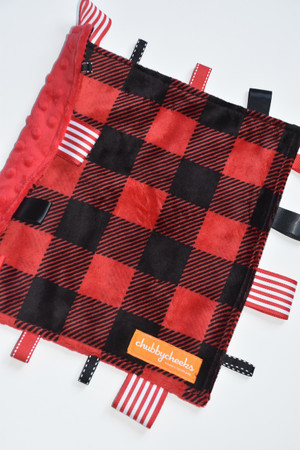 Small Tag Blanket in buffalo plaid