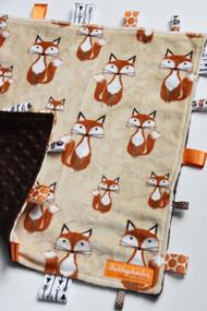 Fox on Brown large tag blanket