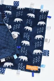 Navy Polar Bear large tag blanket