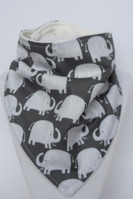 Elephant Bandana Bib with bamboo back