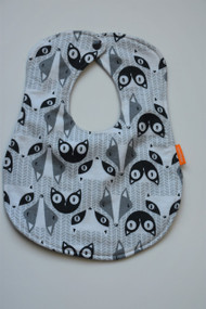 Raccoon Faces classic bib flannel