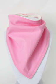 Solid Bubble Gum bandana bib with bamboo back.