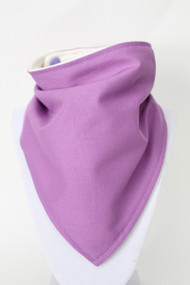 Solid Purple bandana bib with bamboo back.