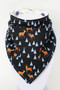 Deer Forest bandana bib with bamboo back.