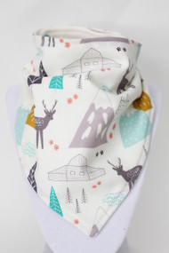 Bandana Bib - Mountains And Deer (bamboo)