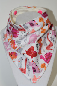 Dinogirls bandana bib with bamboo back