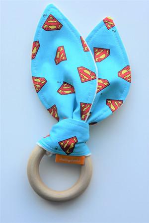 Wooden Teether in Superman