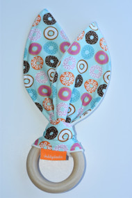 Love donuts! wooden teether