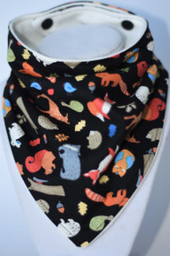 Woodland bandana bib with bamboo backing