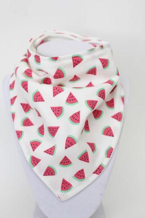 Watermelon Slices bandana bib with bamboo back