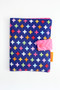 Colourful Crosses crayon wallet closed view