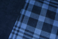 Navy / Blue Plaid car seat poncho