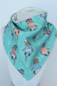 Sea Otters bandana bib with bamboo back