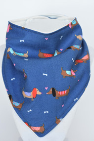 Puppy Love bandana bib with bamboo back