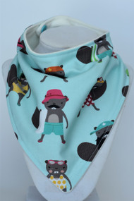Bathing Suit Beavers part of the Purely Canadian collection bandana bib
