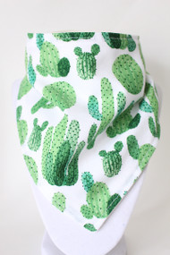Cactus bandana bib with bamboo back