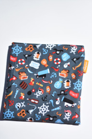 Grey Pirates snack bag size large