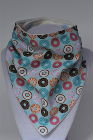 Love Donuts bandana bib with bamboo back