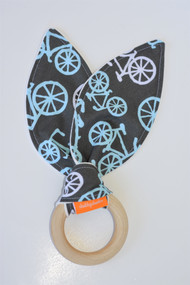 Blue Bikes wooden teether