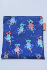 Swimming Otters size large snack bag