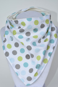 Backyard Boys Leaf bandana bib with bamboo backing.