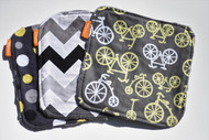 Yellow Bikes 3 pack washie set