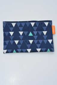Navy Triangles snack bag small