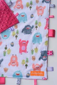 Bigfoot Boogy Pink size large tag blanket