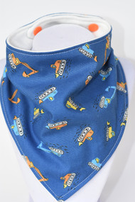Can you dig it? Bandana bib with bamboo back