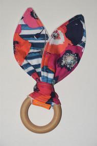 Paparounes Crimson Poppy wooden teether