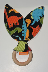 Colourful Dinosaurs wooden teether
