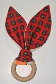 Bear Heads wooden teether