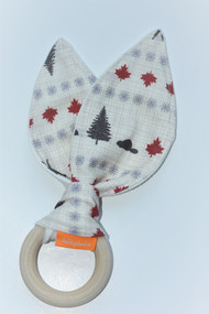 Canadian inspired wooden teether