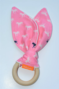 Wooden Teether - Derby Pink