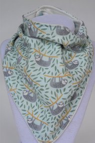 Swinging Sloths bandana bib