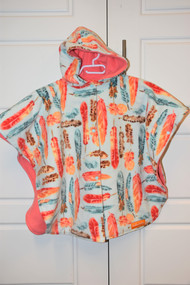 Coral feathers size large car seat poncho