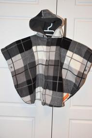 Grey/ Tan/ Black car seat poncho in size small