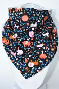 Pink/orange zoo bandana bib