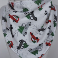 Bandana Bib - Holiday - Treed Cars