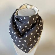 Bandana Bib- Grey Triangles