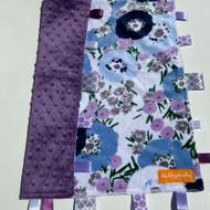 Tag Blanket ( large) - Purple Floral