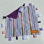 Tag Blanket ( small) - Shades of Purple stripe