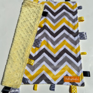 Tag Blanket (large) - Yellow/Grey Chevron