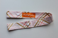 Toy Strap - Pink and Gold Plaid